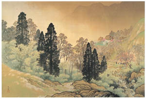 thumbnail Kawai Gyokudō – Mountain Village in Spring [from The Exhibition of Kawai Gyokudō in memory of the 50th anniversary after his death]