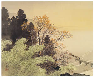 thumbnail Kawai Gyokudō – Returning Home in Evening [from The Exhibition of Kawai Gyokudō in memory of the 50th anniversary after his death]
