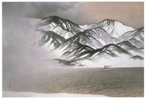 thumbnail Kawai Gyokudō – The Strait in Snowstorm [from The Exhibition of Kawai Gyokudō in memory of the 50th anniversary after his death]