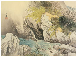 thumbnail Kawai Gyokudō – Deep valley in Early Spring  [from The Exhibition of Kawai Gyokudō in memory of the 50th anniversary after his death]