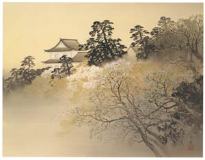 thumbnail Kawai Gyokudō – Old Castle in Spring Evening [from The Exhibition of Kawai Gyokudō in memory of the 50th anniversary after his death]
