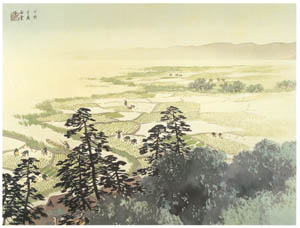 thumbnail Kawai Gyokudō – Sunny in May [from The Exhibition of Kawai Gyokudō in memory of the 50th anniversary after his death]