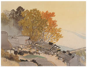thumbnail Kawai Gyokudō – Kori in Autumn [from The Exhibition of Kawai Gyokudō in memory of the 50th anniversary after his death]