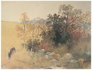 thumbnail Kawai Gyokudō – Plateau in Deep Autumn [from The Exhibition of Kawai Gyokudō in memory of the 50th anniversary after his death]