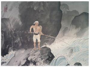 thumbnail Kawai Gyokudō – Ayu Fishing [from The Exhibition of Kawai Gyokudō in memory of the 50th anniversary after his death]