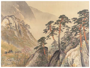 thumbnail Kawai Gyokudō – Spring Journey [from The Exhibition of Kawai Gyokudō in memory of the 50th anniversary after his death]