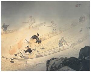 thumbnail Kawai Gyokudō – Cormorant Fishing [from The Exhibition of Kawai Gyokudō in memory of the 50th anniversary after his death]