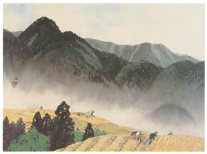 thumbnail Kawai Gyokudō – Distant Thunder in Early Summer [from The Exhibition of Kawai Gyokudō in memory of the 50th anniversary after his death]