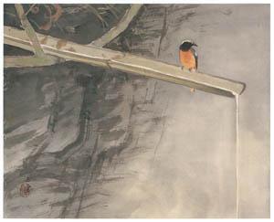 川合玉堂 – 水四題: 鶲 [没後50年 川合玉堂展:時を越えよみがえる日本の自然より]のサムネイル画像