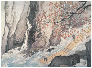 thumbnail Kawai Gyokudō – The Gorge in Spring [from The Exhibition of Kawai Gyokudō in memory of the 50th anniversary after his death]