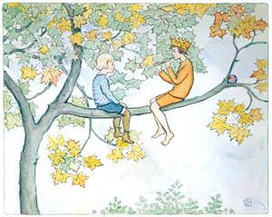 thumbnail Elsa Beskow – Plate 2 [from Little Lasse in the garden]