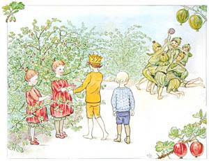 thumbnail Elsa Beskow – Plate 3 [from Little Lasse in the garden]