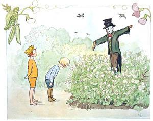thumbnail Elsa Beskow – Plate 6 [from Little Lasse in the garden]