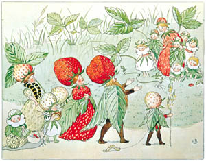 thumbnail Elsa Beskow – Plate 11 [from Little Lasse in the garden]