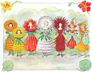 thumbnail Elsa Beskow – Plate 14 [from Little Lasse in the garden]