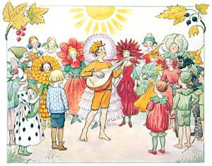 thumbnail Elsa Beskow – Plate 15 [from Little Lasse in the garden]