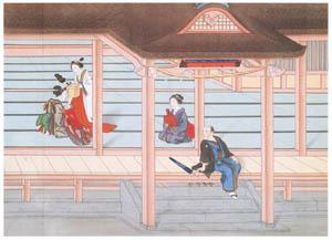 thumbnail Kawahara Keiga – The newborn baby's first visit to the tutelary shrin [from Catalogue of the Exhibition of Keiga Kawahara]