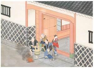 thumbnail Kawahara Keiga – Fire burnt at seeing off the departed soul [from Catalogue of the Exhibition of Keiga Kawahara]