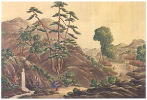 thumbnail Kawahara Keiga – Salamander catchers at Hakone [from Catalogue of the Exhibition of Keiga Kawahara]