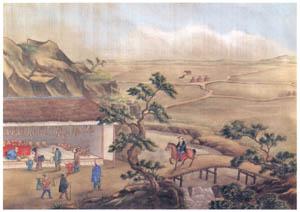川原慶賀 – 街道図 [江戸の日本を伝えるシーボルトの絵師 川原慶賀展より]のサムネイル画像