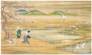 thumbnail Kawahara Keiga – Falconry [from Catalogue of the Exhibition of Keiga Kawahara]