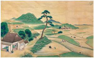 thumbnail Kawahara Keiga – Spring rural scene [from Catalogue of the Exhibition of Keiga Kawahara]