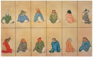 川原慶賀 – 十二支図 [江戸の日本を伝えるシーボルトの絵師 川原慶賀展より]のサムネイル画像