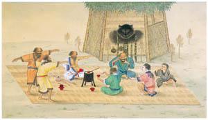 thumbnail Kawahara Keiga – Ainus worshipping a deified bear [from Catalogue of the Exhibition of Keiga Kawahara]