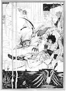オーブリー・ビアズリー – いかにしてアーサー王は捜し求めていた獣に出会い、大いに驚いたか [ピアズリー展より]のサムネイル画像