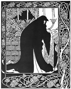 オーブリー・ビアズリー – いかにしてグィネヴィア女王は尼となったか [ピアズリー展より]のサムネイル画像