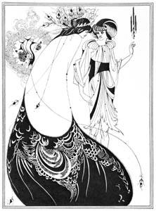 オーブリー・ビアズリー – 孔雀の裳裾 [ピアズリー展より]のサムネイル画像