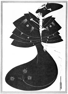 オーブリー・ビアズリー – 黒いケープ [ピアズリー展より]のサムネイル画像