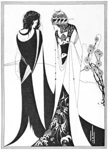 オーブリー・ビアズリー – ヨハネとサロメ [ピアズリー展より]のサムネイル画像