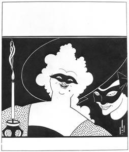 オーブリー・ビアズリー – 『イエロー・ブック』 第1巻の表紙のデザイン [ピアズリー展より]のサムネイル画像