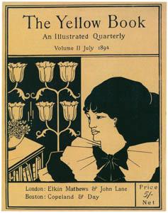 オーブリー・ビアズリー – 第2巻(1894年7月)の表紙 イエロー・ブック [ピアズリー展より]のサムネイル画像