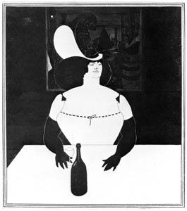 オーブリー・ビアズリー – 肥った女 [ピアズリー展より]のサムネイル画像