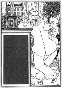 thumbnail Aubrey Beardsley – Pierrot's Library, No. 111 [from Aubrey Beardsley Exhibition]