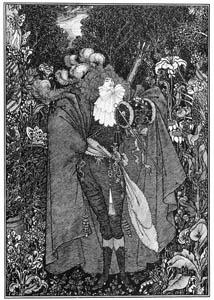 オーブリー・ビアズリー – 神父 (ピアズリー作「丘の麓で」) [ピアズリー展より]のサムネイル画像