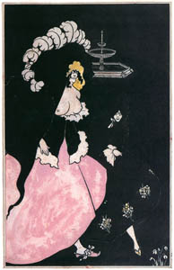 thumbnail Aubrey Beardsley – Messaline returning home [from Aubrey Beardsley Exhibition]