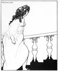 オーブリー・ビアズリー – 入浴から帰るメサリーナ [ピアズリー展より]のサムネイル画像