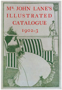 thumbnail Aubrey Beardsley – Cover to Mr. John Lane's Illustrated Catalogue 1902-3 [from Aubrey Beardsley Exhibition]