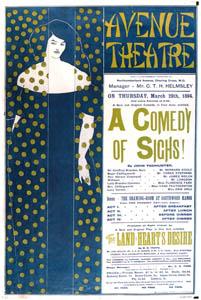 オーブリー・ビアズリー – ジョン・ トドハンターの劇『ため息のコメディー』の宣伝用ポスター [ピアズリー展より]のサムネイル画像