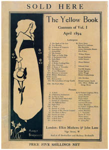 thumbnail Aubrey Beardsley – Sold Here…. Small poster advertising The Yellow Book [from Aubrey Beardsley Exhibition]