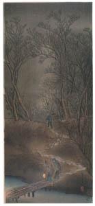 高橋松亭 – 幡ヶ谷の寒林 [こころにしみるなつかしい日本の風景 近代の浮世絵師・高橋松亭の世界より]のサムネイル画像