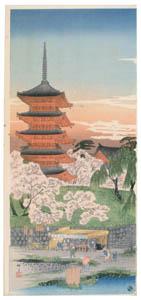 thumbnail Takahashi Shōtei – Untitled:  (Sensoji Temple in Spring) [from Shotei (Hiroaki) Takahashi: His Life and Works]