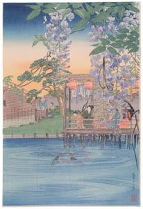 thumbnail Takahashi Shōtei – Wisteria Flowers at Kameido [from Shotei (Hiroaki) Takahashi: His Life and Works]