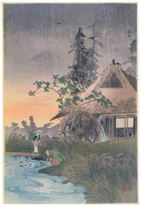 高橋松亭 – 広尾 [こころにしみるなつかしい日本の風景 近代の浮世絵師・高橋松亭の世界より]のサムネイル画像