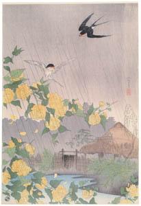 高橋松亭 – 山吹の里 [こころにしみるなつかしい日本の風景 近代の浮世絵師・高橋松亭の世界より]のサムネイル画像