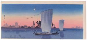 thumbnail Takahashi Shōtei – Tone in the Evening [from Shotei (Hiroaki) Takahashi: His Life and Works]