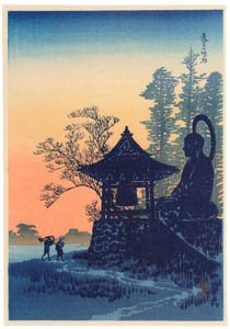 thumbnail Takahashi Shōtei – The Buddhist Church Reflecting the Setting Sun [from Shotei (Hiroaki) Takahashi: His Life and Works]